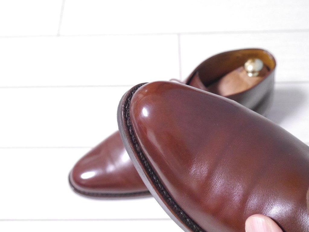 毎日の靴磨き ブラッシング後