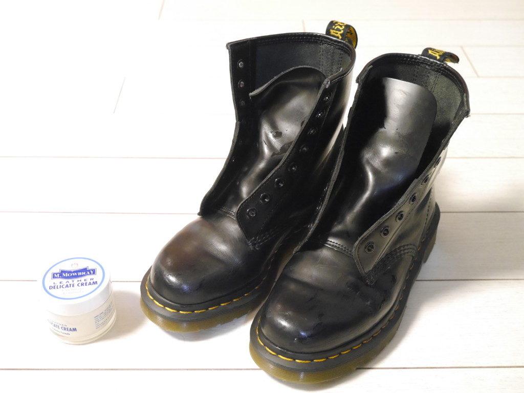 ドクターマーチン 靴擦れ デリケートクリーム塗布