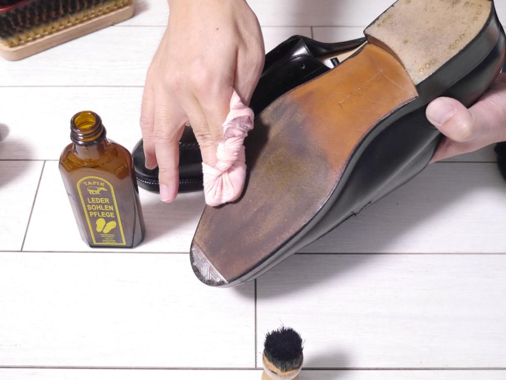 エドワードグリーンドーバー 靴磨き レザーソール