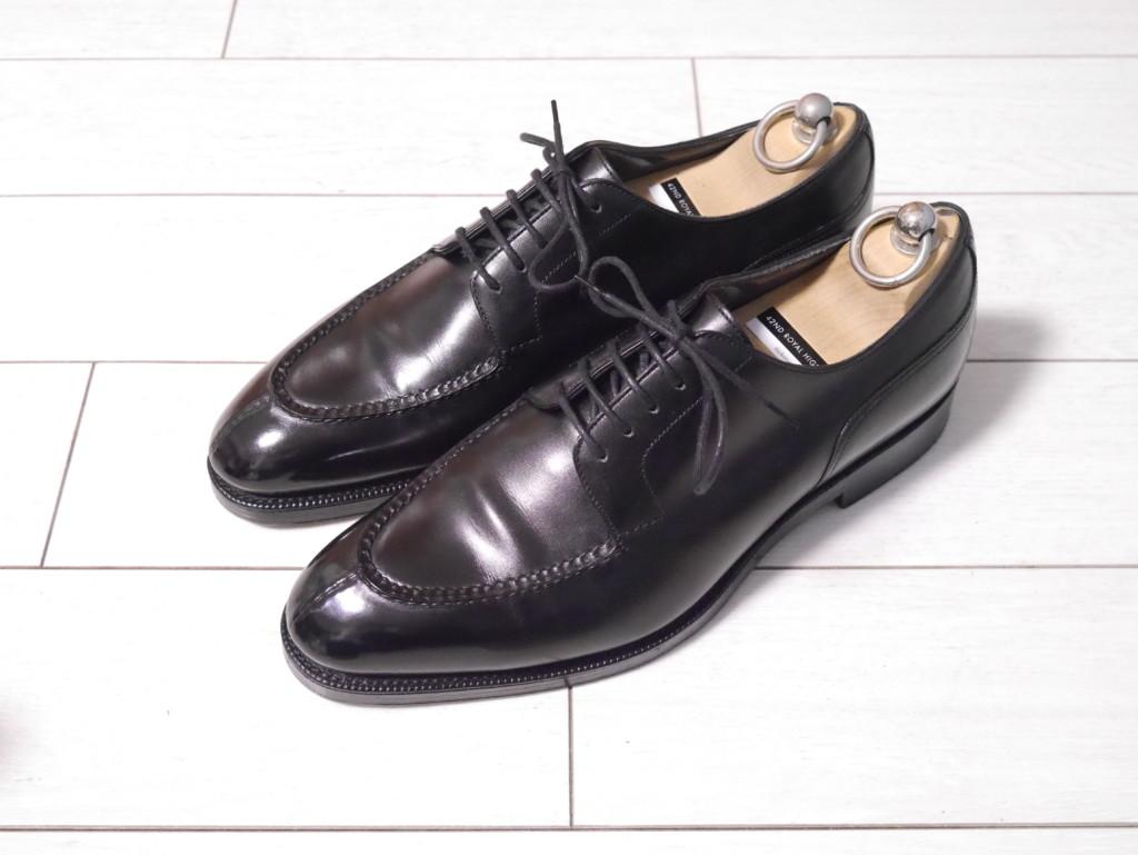 エドワードグリーンドーバー 靴磨き 完了!