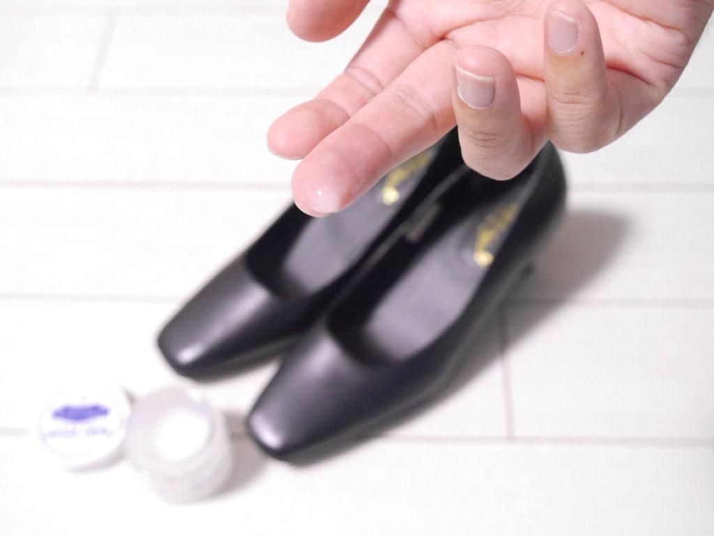 リーガルのパンプスの靴擦れを直す 塗る量