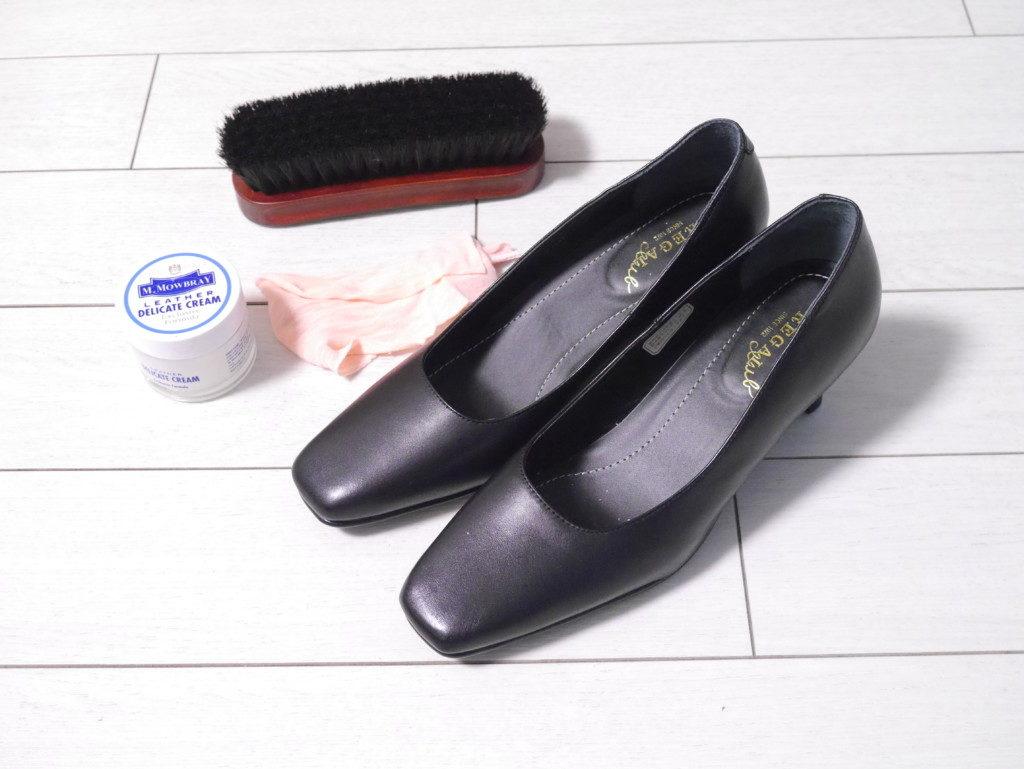 リーガルのパンプスの靴擦れを直す 完成