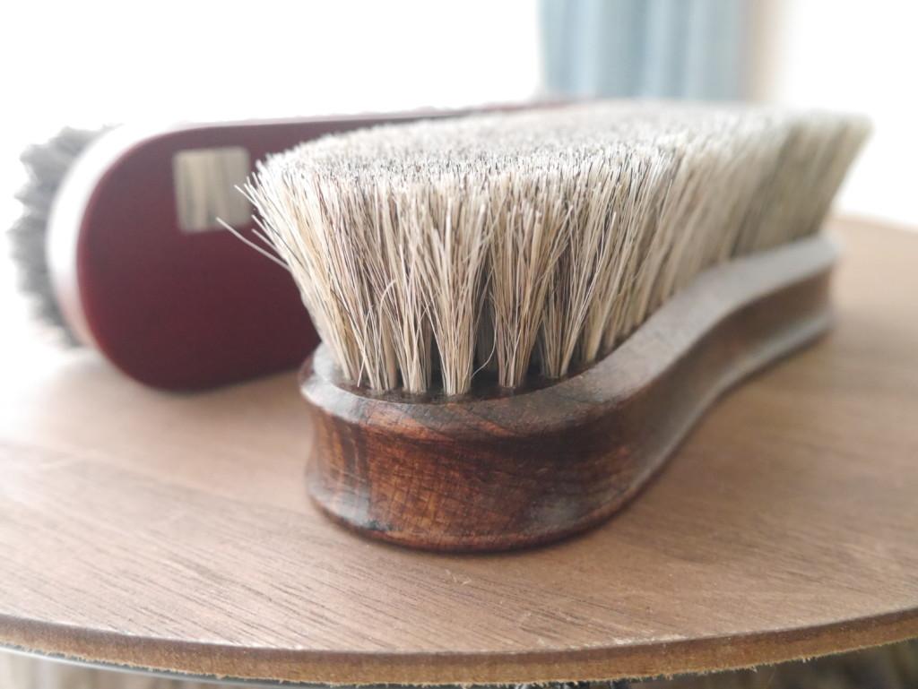 靴磨きブラシ 馬毛ブラシ2