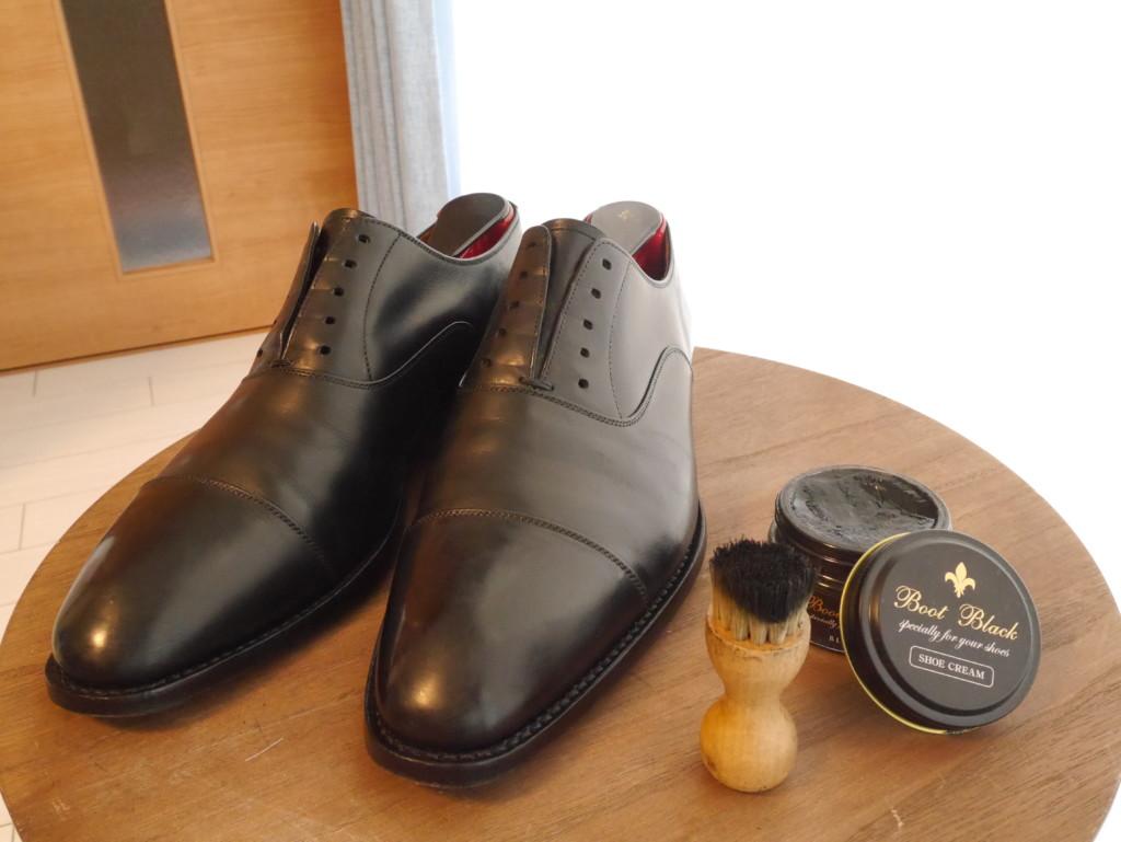 靴磨き 頻度 クリーム完成