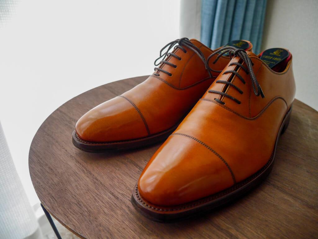 茶色の靴 完成