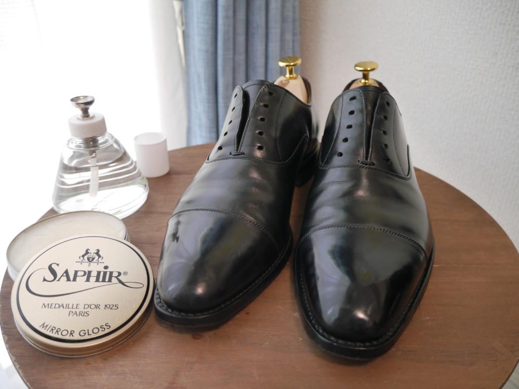 革靴の傷 二層目