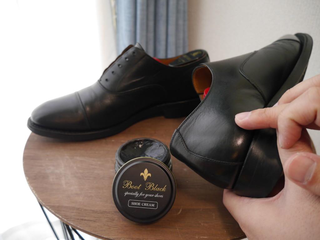 革靴の傷 ブートブラック