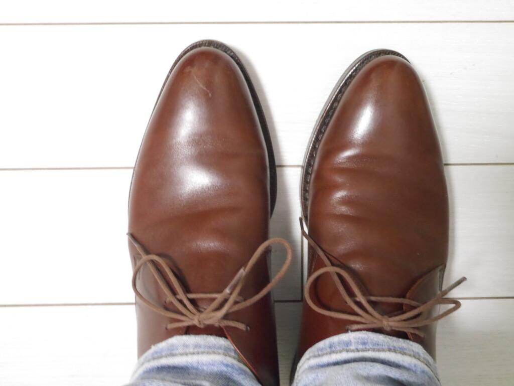 靴紐 安い蝋引き