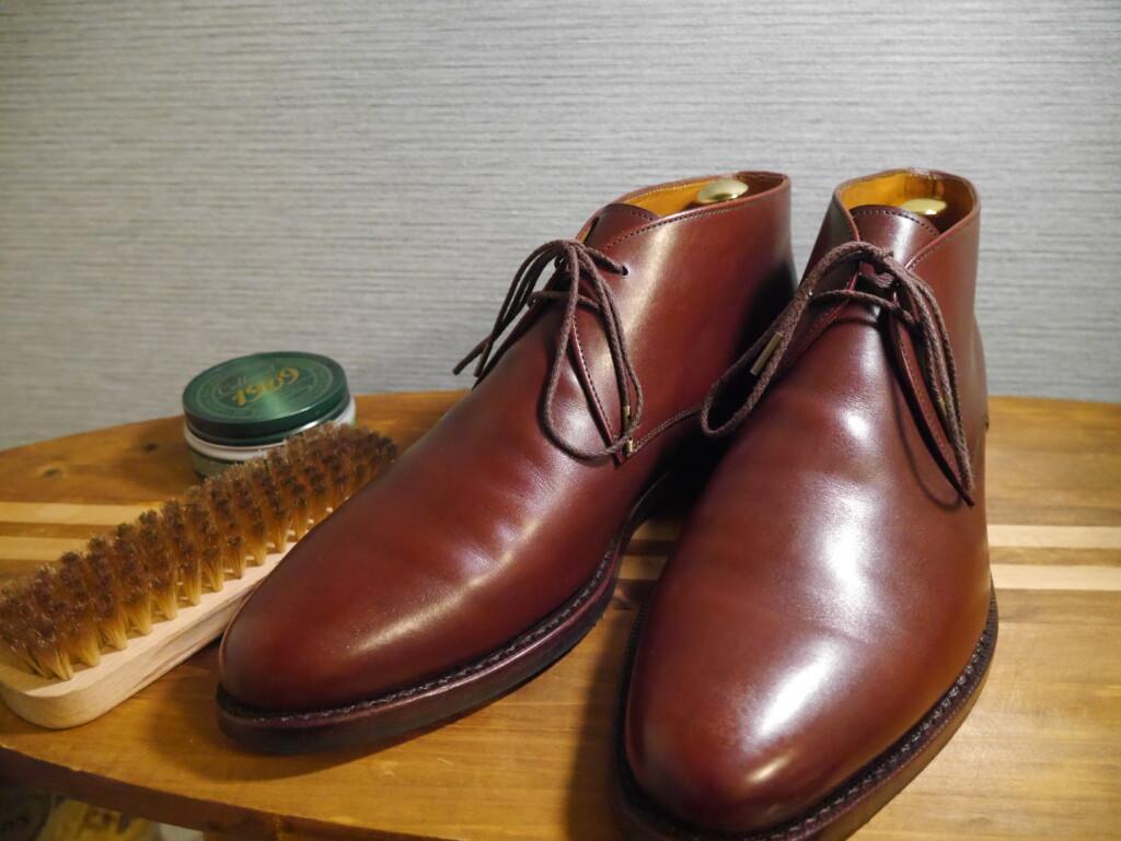 靴磨きおすすめクリーム 完成①