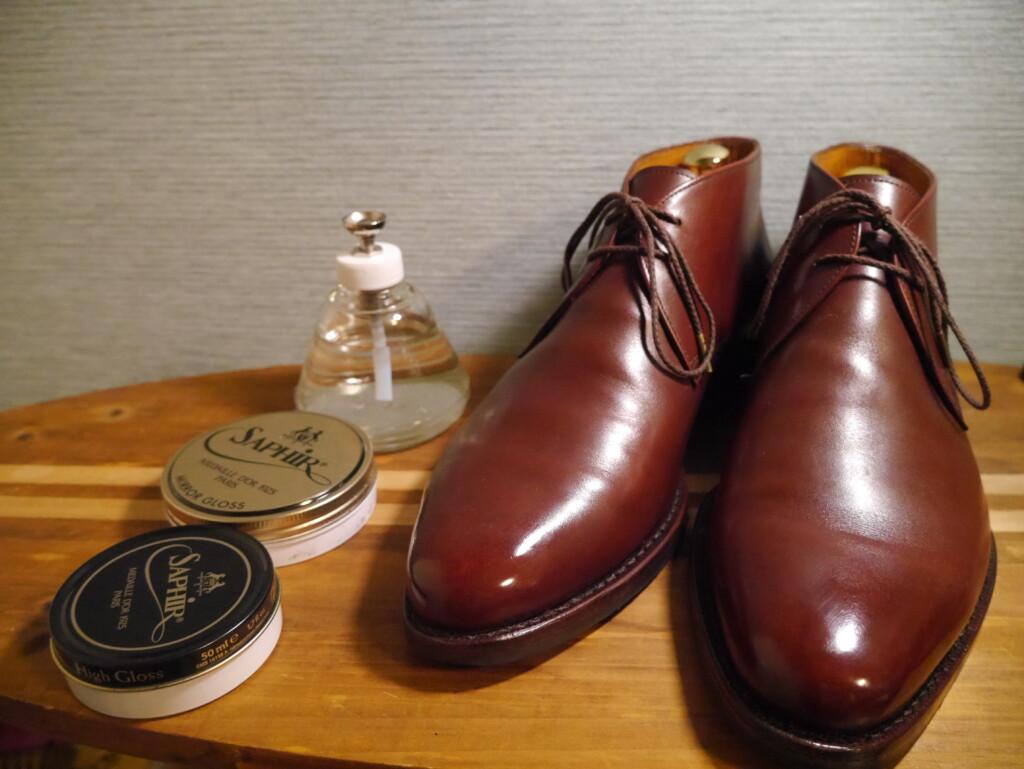 靴磨きおすすめクリーム ワックス完成